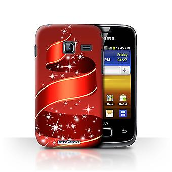 STUFF4 Case/Cover for Samsung Galaxy Y Duos/S6102/Ribbon/Red/Christmas Decorations