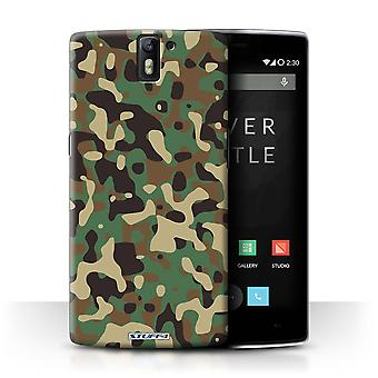 STUFF4 Case/Cover voor OnePlus One/groen 3/Camouflage Army Navy