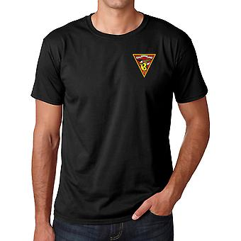 USMC Marines MAG 13 Embroidered Logo - Ringspun Cotton T Shirt