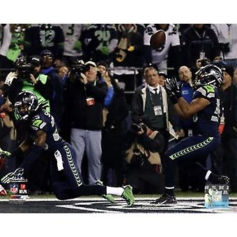 Malcolm Smith & Richard Sherman Game Winning Interception 2013 NFC Championship Game Sports Photo
