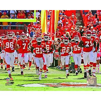 Kansas City Chiefs 2011 Team Introduction Photo Print