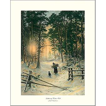 Gathering Winter Fuel Poster Print by Joseph Farquharson (16 x 20)