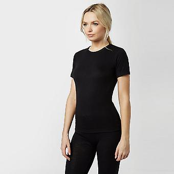 New Peter Storm Women's Thermal Short Sleeve Crew Baselayer Black