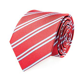 Pelo tie classic silk silk tie red-white striped 7 cm