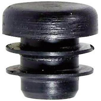 PB Fastener 085 0150 699 03 Plug With Fins For Round Profile Black (Ø x H) 15 mm x 16.5 mm