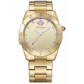 Juicy Couture Womans Connect Quartz Gold Tone 1901500 Watch
