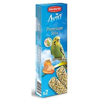 Bob Martin Avia Premium Stix med honning For undulater 2pk 45g (Pack af 8)