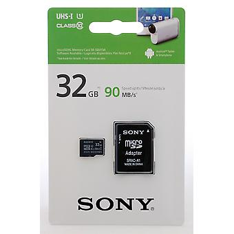 SONY 32GB microSDHC Memory Card with SD Adapter - UHS-I U1 - Class 10 - 90MB/s.