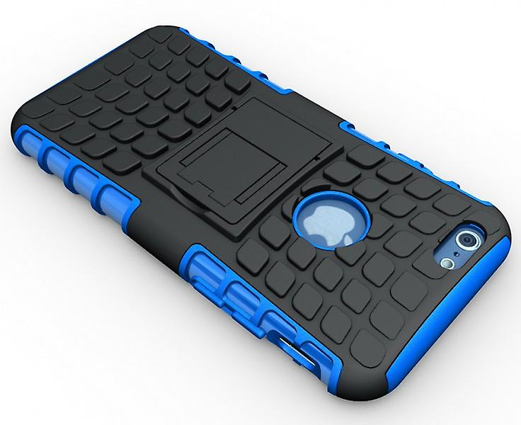 Hybrid Case 2 teilig Robot Blau für Apple iPhone 6 4.7