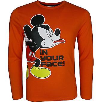 Jungen Disney Micky Maus Langarm Top / T-Shirt