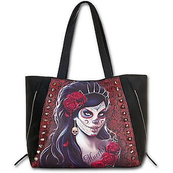 Day Of The Dead    Top Quality Pu Leather Studded
