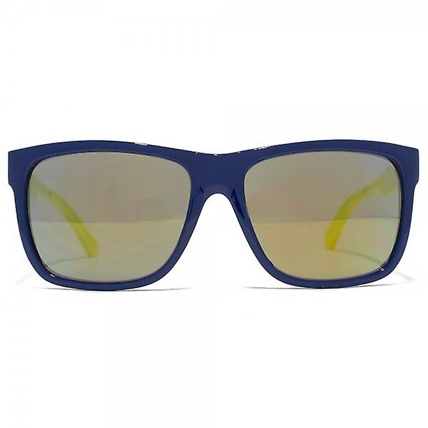 Guess Square Sunglasses In Shiny Blue