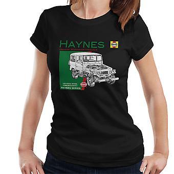 T-shirt Haynes proprietários Workshop Manual 0313 Toyota Landcruiser feminino