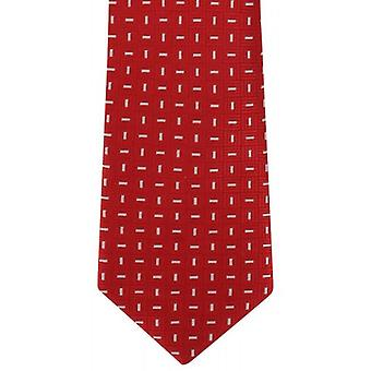 Michelsons of London Classic Dash Silk Tie - Red/White