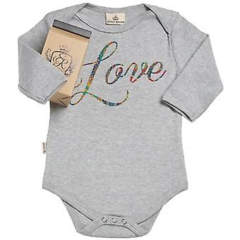 Spoilt Rotten Love Design Organic Babygrow In Gift Milk Carton