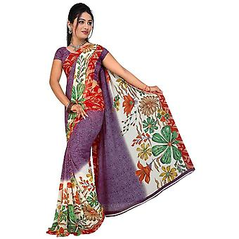 Bhavi Georgette afgedrukt Casual Saree Sari buikdansen stof