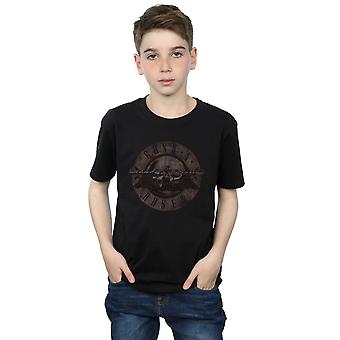 Guns N Roses Boys Sepia Bullet Logo T-Shirt