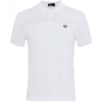 Fred Perry Contrast Panel Pique Polo Shirt
