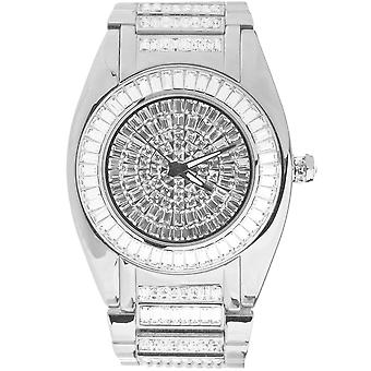 High quality ICED OUT CZ watch - ROBUSTO silver