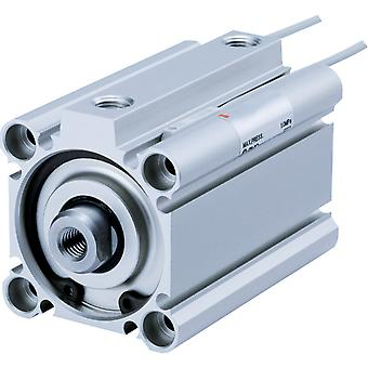 SMC Compact cylinder, double acting, non magnetic, 16mm bore, 10mm stroke