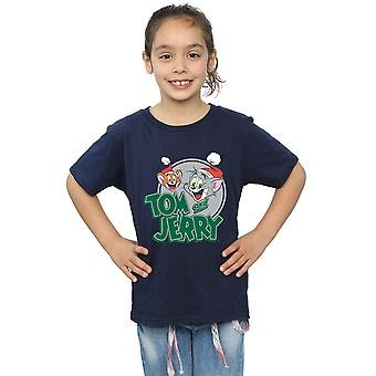 Tom And Jerry Girls Christmas Greetings T-Shirt