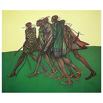 Herdsticks & Sandals Poster Print by Charles Bibbs (21 x 25)