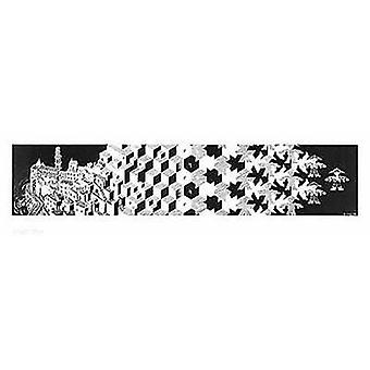 Metamorphosis I Poster Poster Print by MC Escher