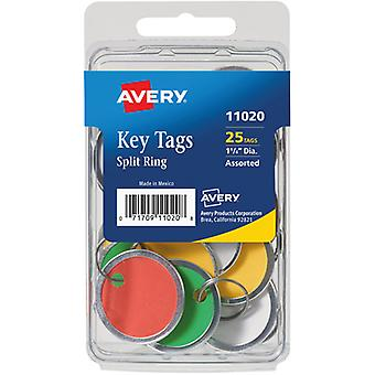 Metal Rim & Ring Key Tags 25/Pkg-Assorted 11020