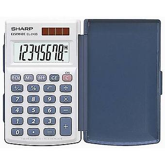 Pocket calculator EL-243 S Sharp EL243S White, Blue