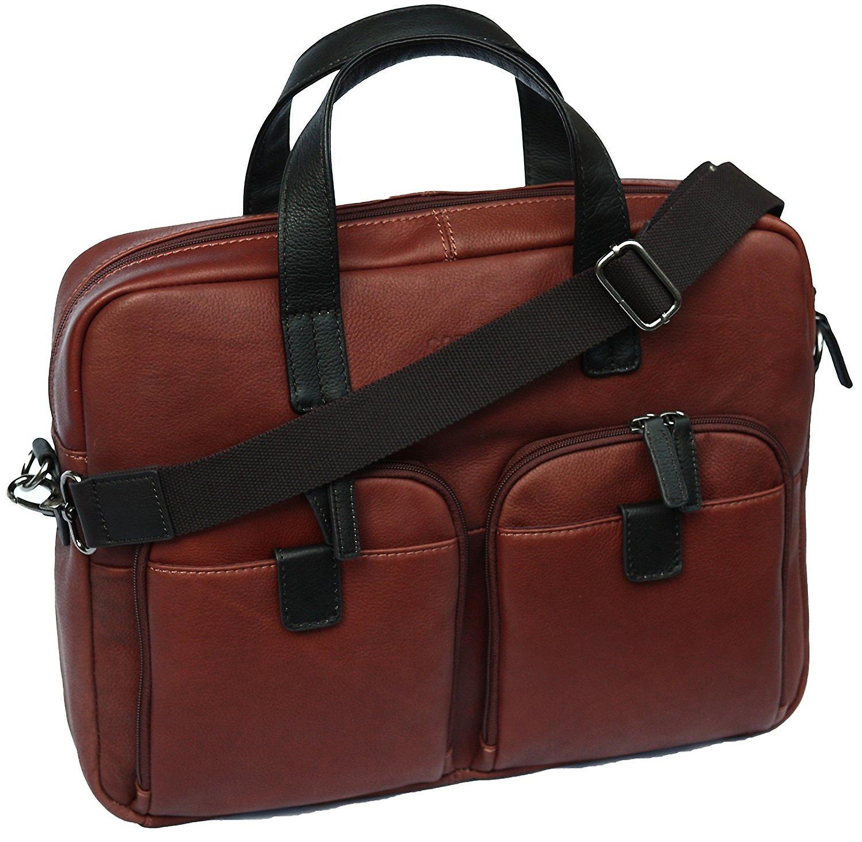 Cortez cuir véritable mallette Business Bag 15.6 pouces ordinateur portable épaule affaire travail