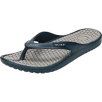 Surf zwart/blauw teen Post Eva Flip Flops
