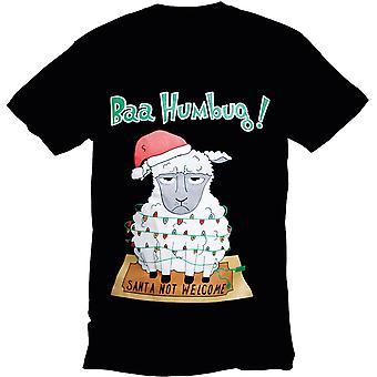 Christmas Mens & Womens Festive Bah Humbug Sheep Crew Neck T Shirt
