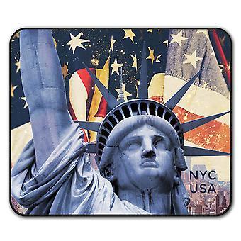 New York Vis sklisikre musen Mat Pad 24 cm x 20 cm   Wellcoda