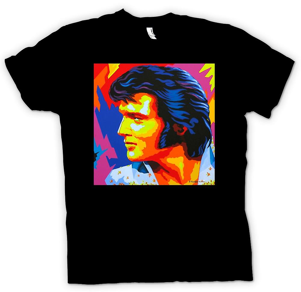 Mens t-shirt - colore di Elvis Presley - Pop Art