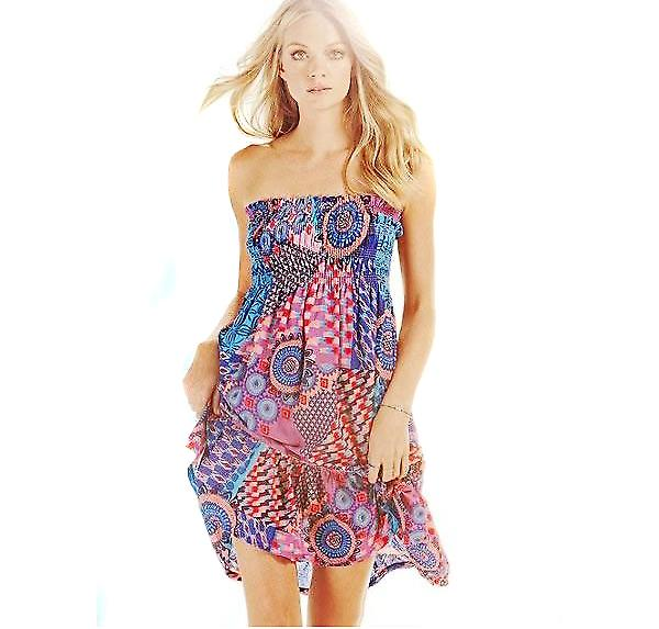 Waooh - Fashion - dress of multicoloured Beach Ultra light