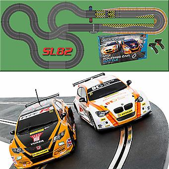 SCALEXTRIC Set SL82 C1372 BTCC Touring CAR + Extra Track kit Extension