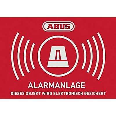 ABUS AU1422 Warning label Alarm secured Languages German (W x H) 148 mm x 105 mm