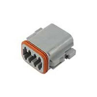 TE Connectivity DT06-08SA Bullet connector Socket, straight Series (connectors): DT Total number of pins: 8 1 pc(s)