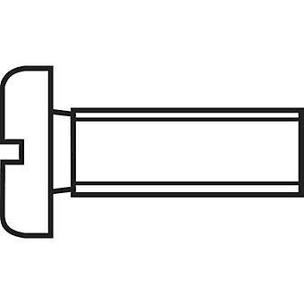 TOOLCRAFT 815756 六角ネジ M4 10 mm スロット DIN 84 鋼亜鉛メッキ 100 pc(s)