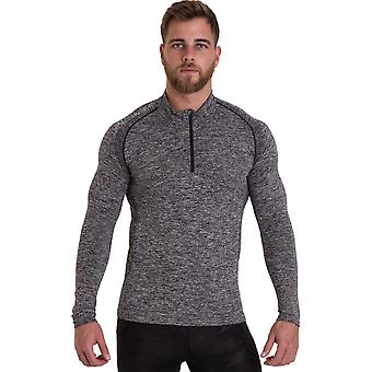 Outdoor Look Mens Auldearn Zip T Shirt Wick Cool Dry Gym Top