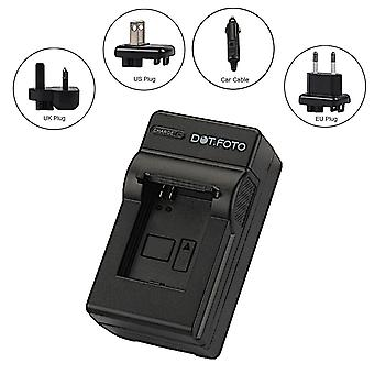 Dot.Foto Sanyo DS8330, 02491-0054-05 Travel Battery Charger for Sanyo VPC-E1000, VPC-W800