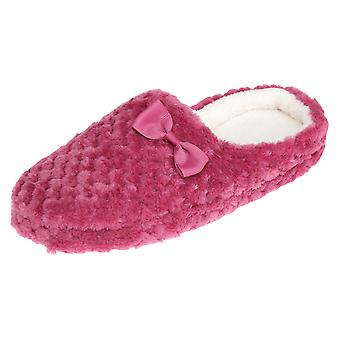 Slumberzzz Womens/Ladies Quilted Plush Slip-On Slippers
