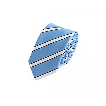 Schlips Krawatte Krawatten Binder 6cm blau weiß schwarz gestreift Fabio Farini