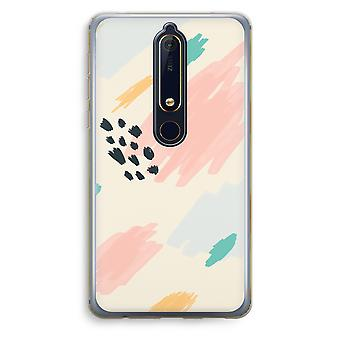 Nokia 6 (2018) Transparent Case (Soft) - Sunday Chillings