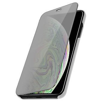 Flip Case, Mirror Case for Apple iPhone XS Max, Standing Cover - Silver