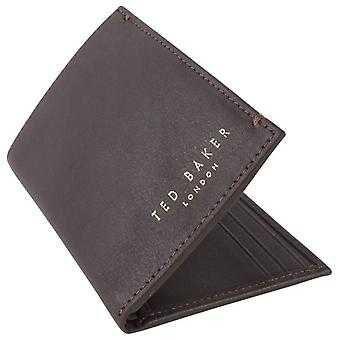 Ted Baker Zacks Small Bifold Wallet - Dark Brown
