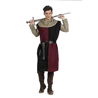 Knight Bordeaux Knight tunika Mr drakt Knight skjorte sverd fighter mens drakt