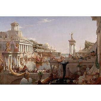 Il corso dell'Impero: la consumazione, Thomas Cole, 40x60cm con vassoio