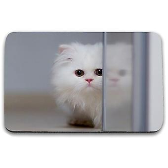 i-Tronixs - Cat Printed Design Non-Slip Rectangular Mouse Mat for Office / Home / Gaming - 16