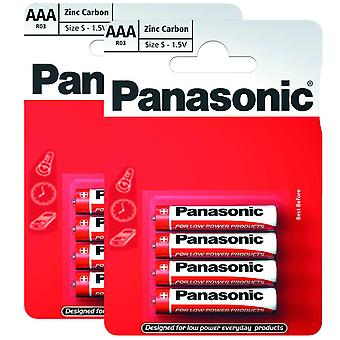 8 x Panasonic R03R-4BP AAA Size Batteries